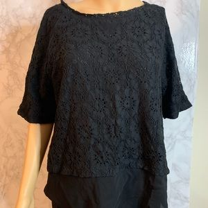 Banana Republic Women's Lace Layered blouse